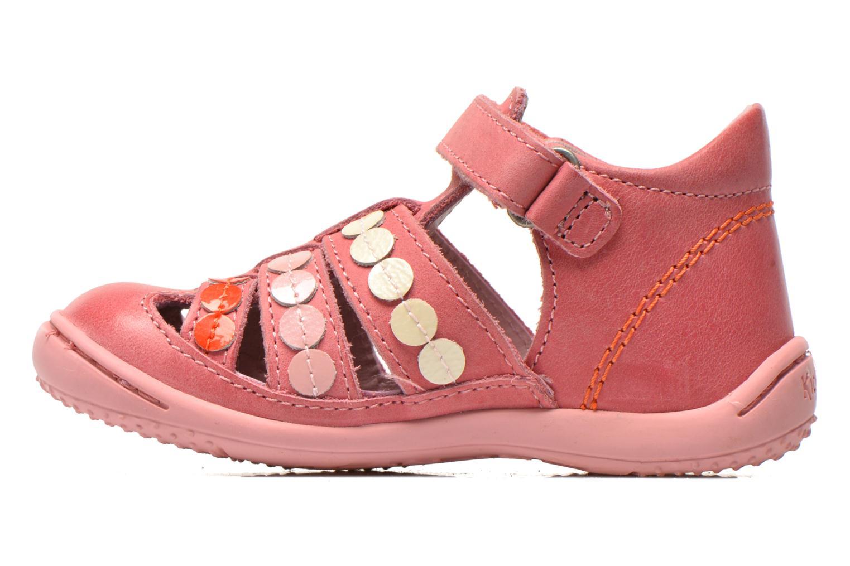 Sandales et nu-pieds Kickers Gift Kids Rose vue face