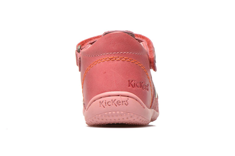 Sandalias Kickers Gift Kids Rosa vista lateral derecha
