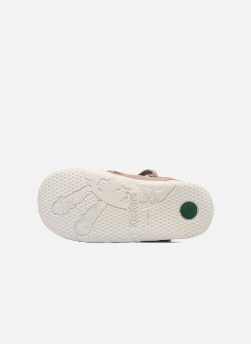 Ballerines Kickers Girly Beige vue haut