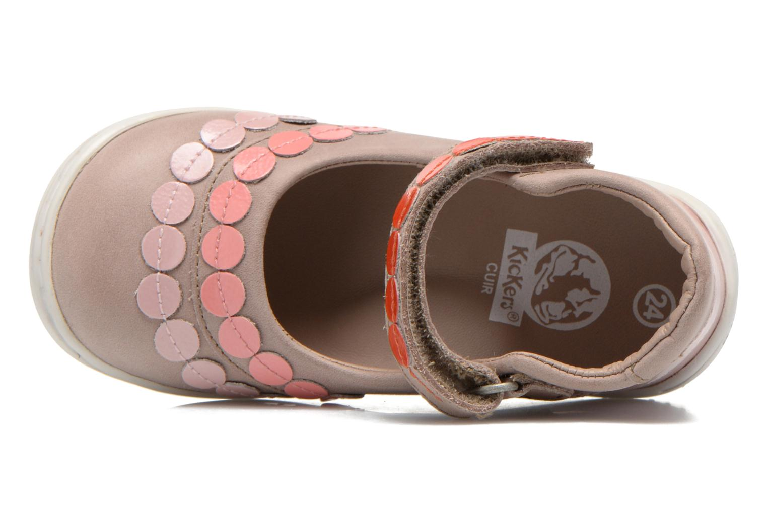 Ballerinas Kickers Girly beige ansicht von links