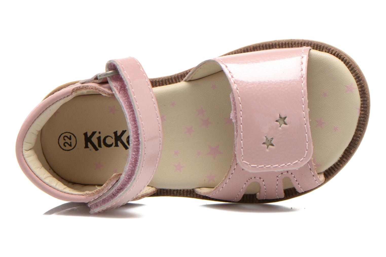 Sandalen Kickers Moonstar Roze links