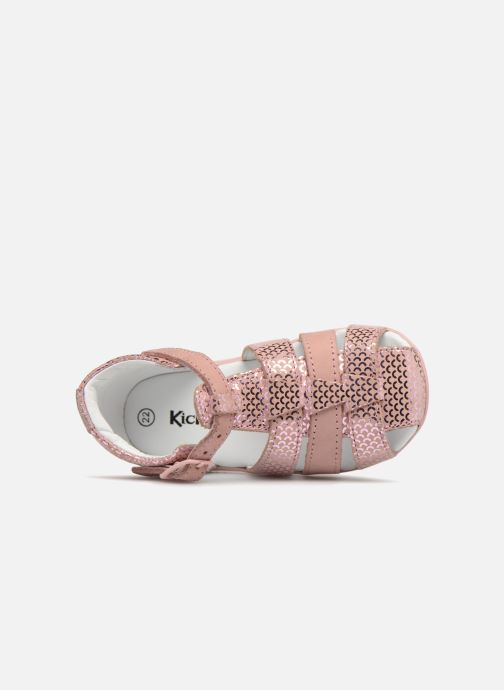 Sandalen Kickers Bigfly Roze links