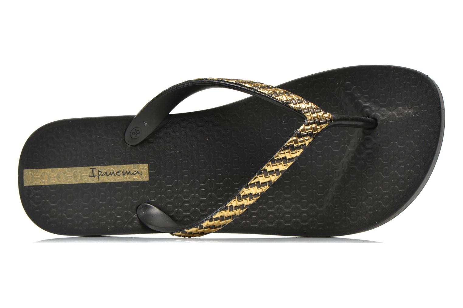 Flip flops Ipanema Mesh Plat Black view from the left