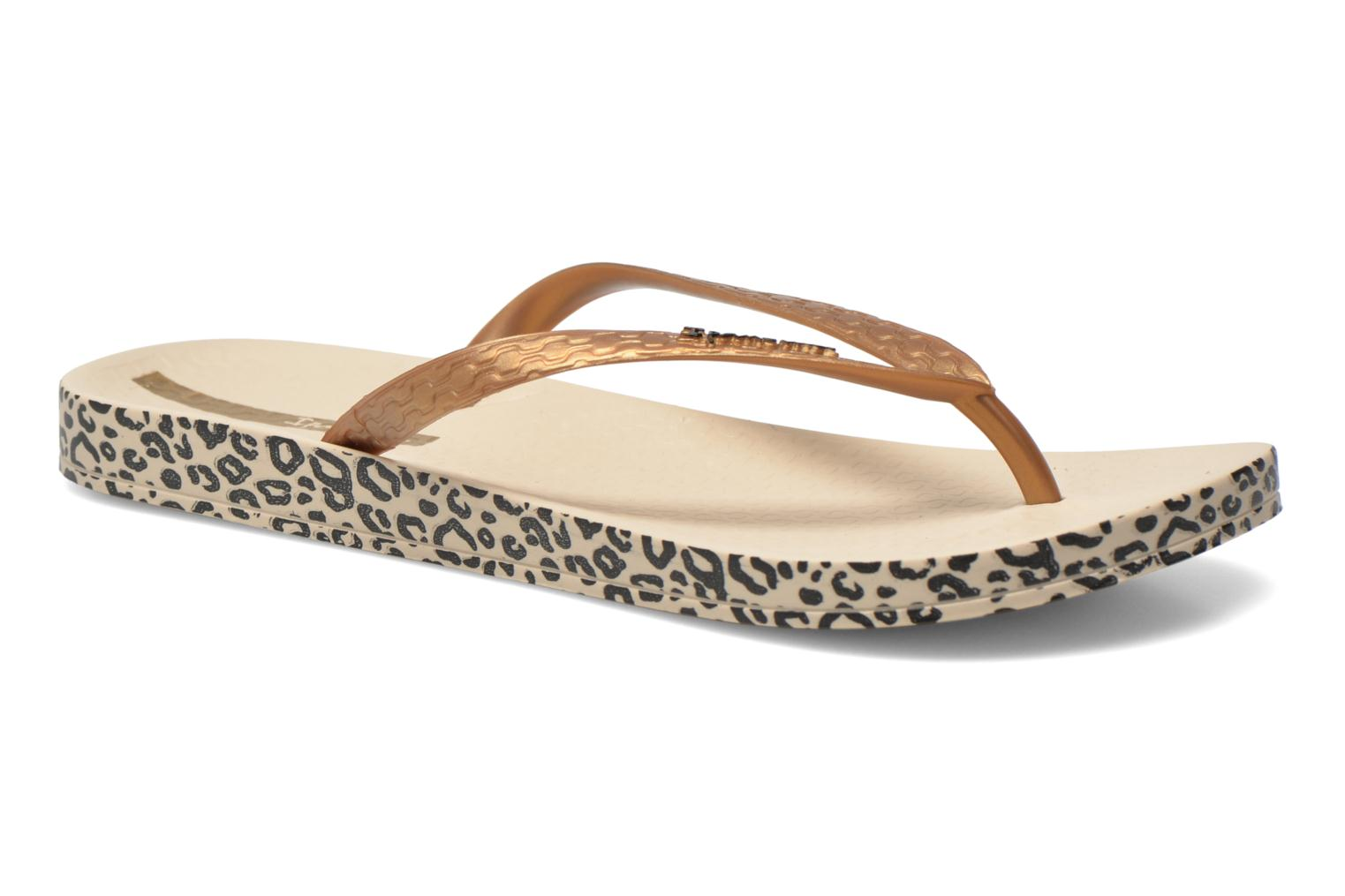 Flip flops Ipanema Anatomica Soft Bronze and Gold detailed view/ Pair view