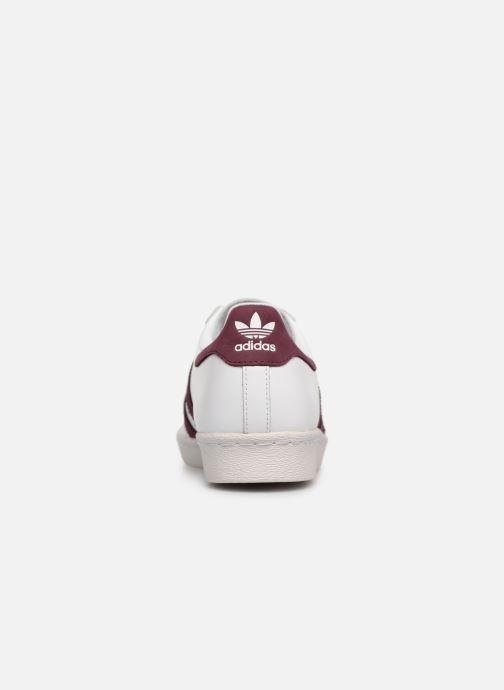 Sneaker adidas originals Superstar 80S weiß ansicht von rechts