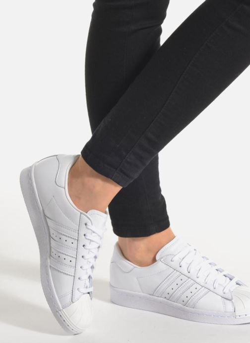 Trainers adidas originals Superstar 80S Metal Toe W White view from underneath / model view
