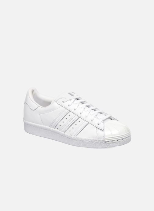Baskets adidas originals Superstar 80S Metal Toe W Blanc vue détail/paire