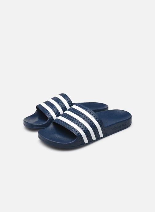 Zuecos adidas originals Adilette W Azul vista de abajo