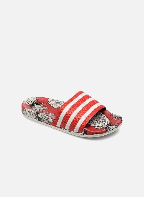 Mules et sabots adidas originals Adilette W Rouge vue détail/paire