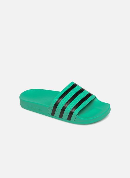 Mules et sabots adidas originals Adilette W Vert vue détail/paire