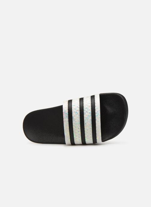 Clogs & Pantoletten adidas originals Adilette W schwarz ansicht von links