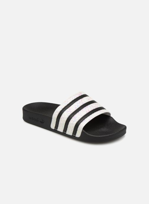 Mules & clogs adidas originals Adilette W Black detailed view/ Pair view