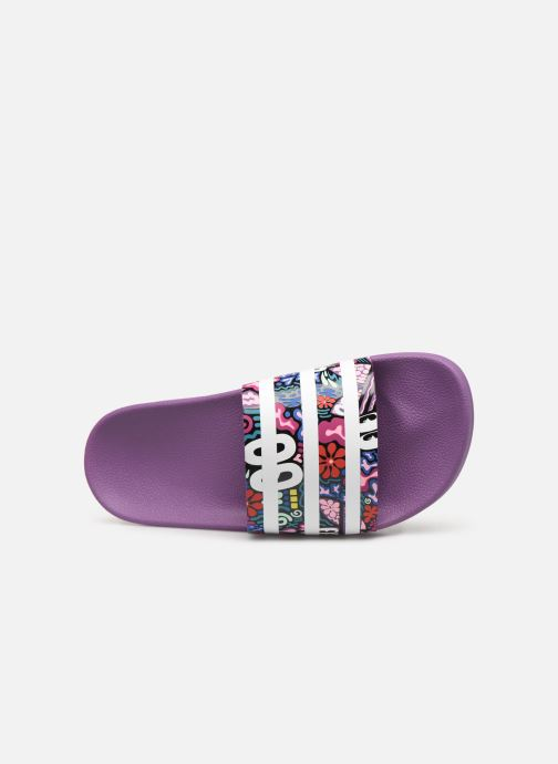 Mules & clogs adidas originals Adilette W Purple view from the left