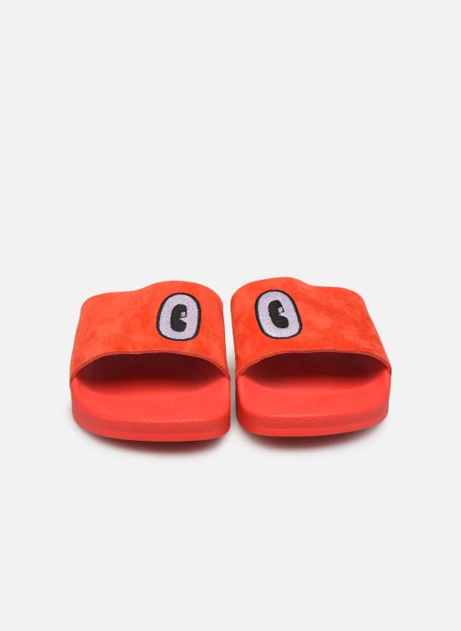 Clogs & Pantoletten adidas originals Adilette W rot schuhe getragen