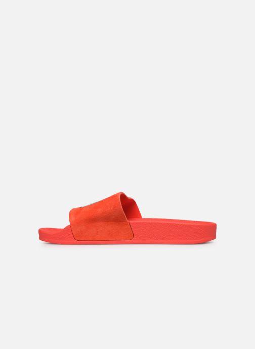 Zuecos adidas originals Adilette W Rojo vista de frente