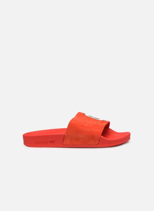 Zuecos adidas originals Adilette W Rojo vistra trasera