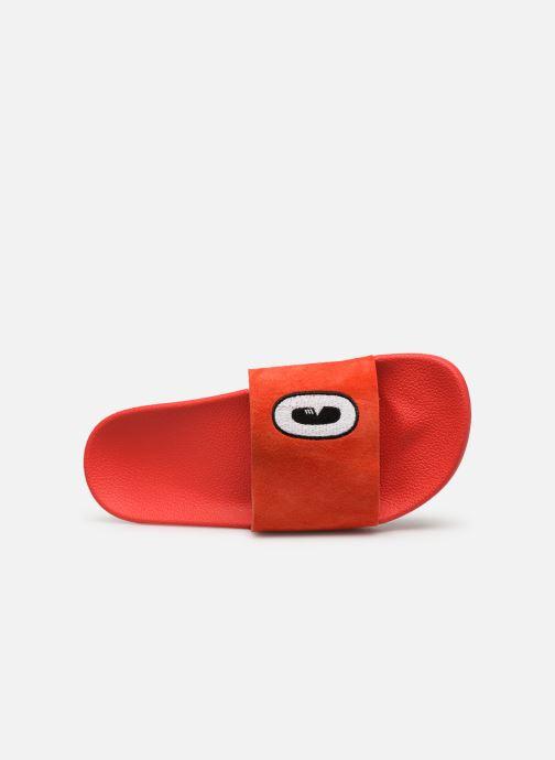 Zoccoli adidas originals Adilette W Rosso immagine sinistra