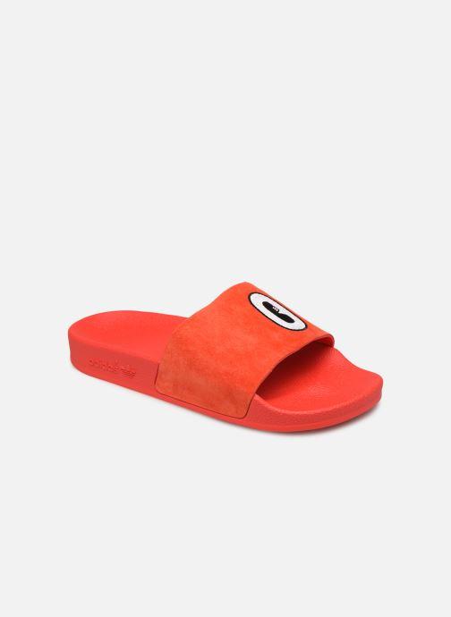 Zuecos adidas originals Adilette W Rojo vista de detalle / par