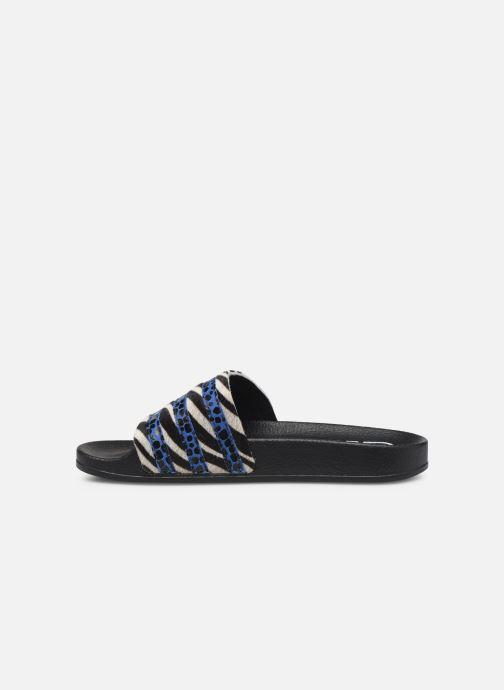 Zuecos adidas originals Adilette W Azul vista de frente