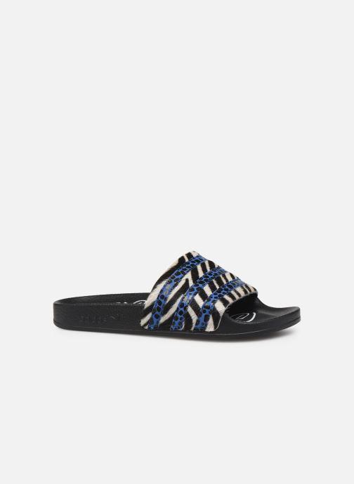 Zuecos adidas originals Adilette W Azul vistra trasera