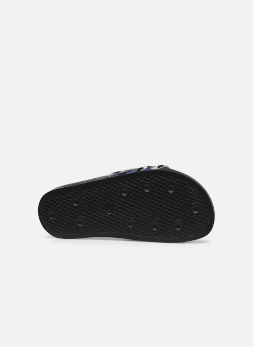 Zuecos adidas originals Adilette W Azul vista de arriba