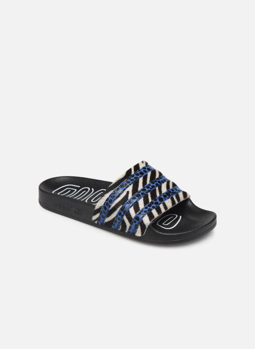 Zuecos adidas originals Adilette W Azul vista de detalle / par