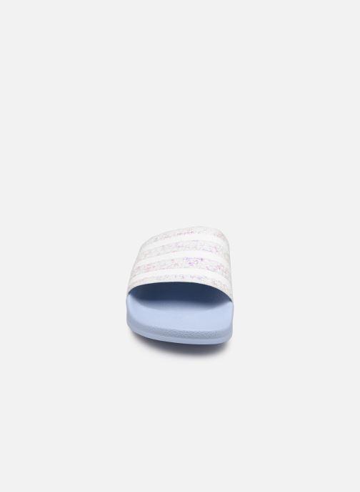 Clogs & Pantoletten adidas originals Adilette W blau schuhe getragen