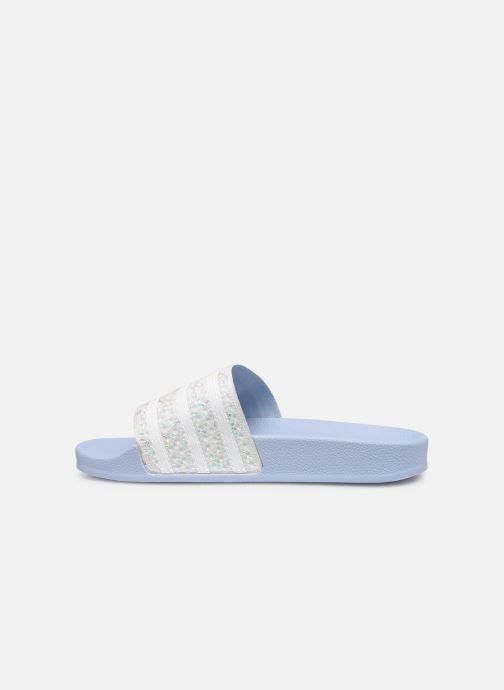Mules et sabots adidas originals Adilette W Bleu vue face