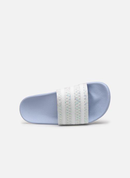 Clogs & Pantoletten adidas originals Adilette W blau ansicht von links