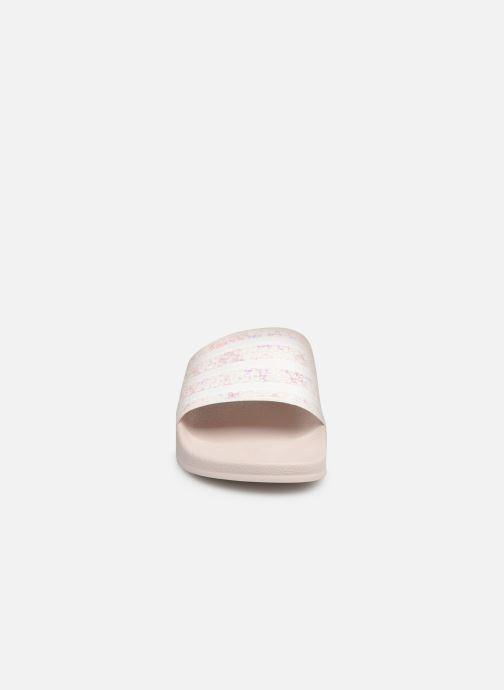 Mules et sabots adidas originals Adilette W Blanc vue portées chaussures