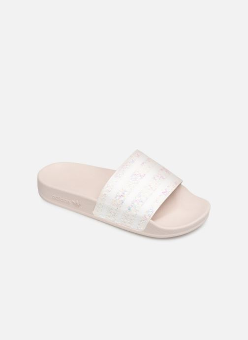 Mules & clogs adidas originals Adilette W White detailed view/ Pair view