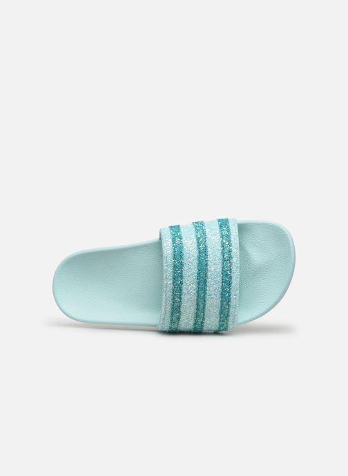 Mules et sabots adidas originals Adilette W Bleu vue gauche