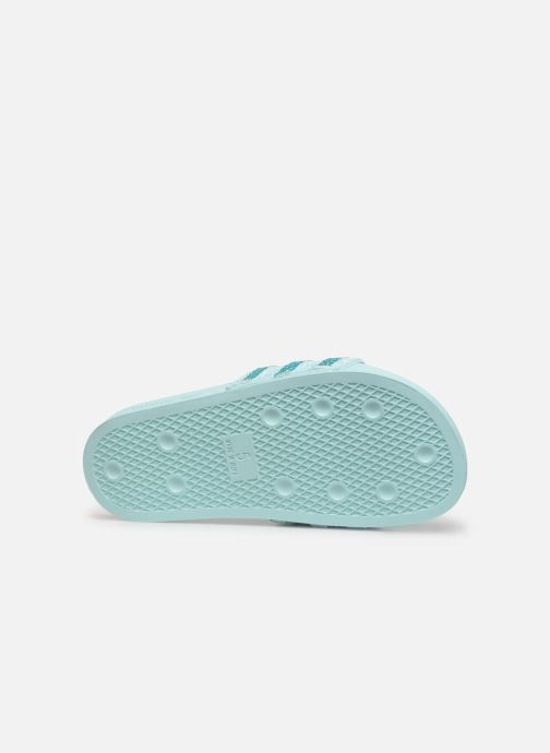 Mules et sabots adidas originals Adilette W Bleu vue haut