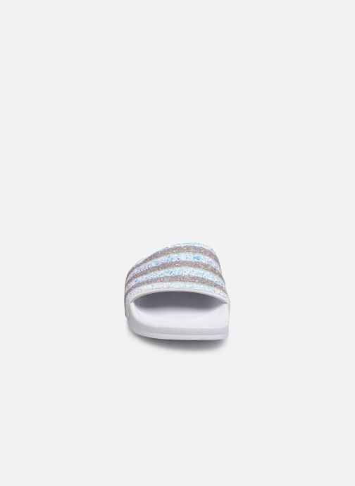 Zuecos adidas originals Adilette W Blanco vista del modelo