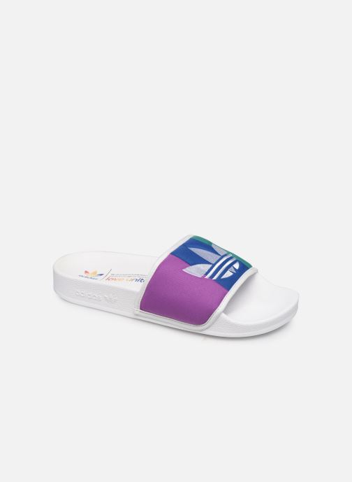 Zuecos adidas originals Adilette W Multicolor vista de detalle / par