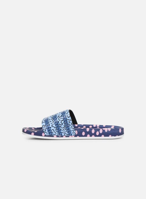 Clogs & Pantoletten adidas originals Adilette W blau ansicht von vorne