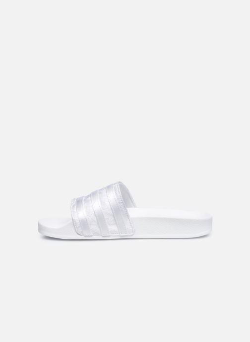Mules et sabots adidas originals Adilette W Blanc vue face
