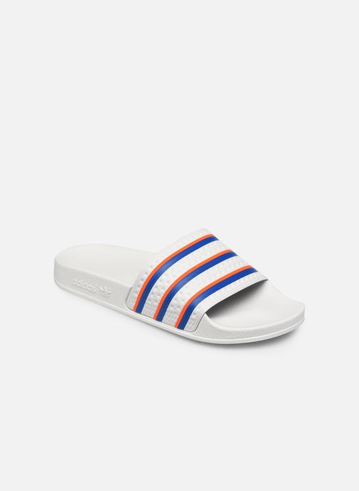 Zuecos adidas originals Adilette W Blanco vista de detalle / par
