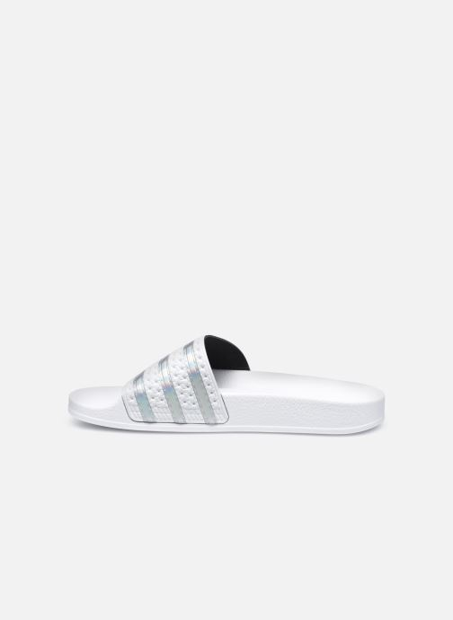Wedges adidas originals Adilette W Wit voorkant