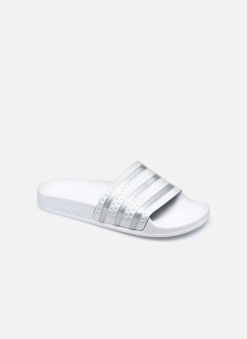 Mules et sabots adidas originals Adilette W Blanc vue détail/paire