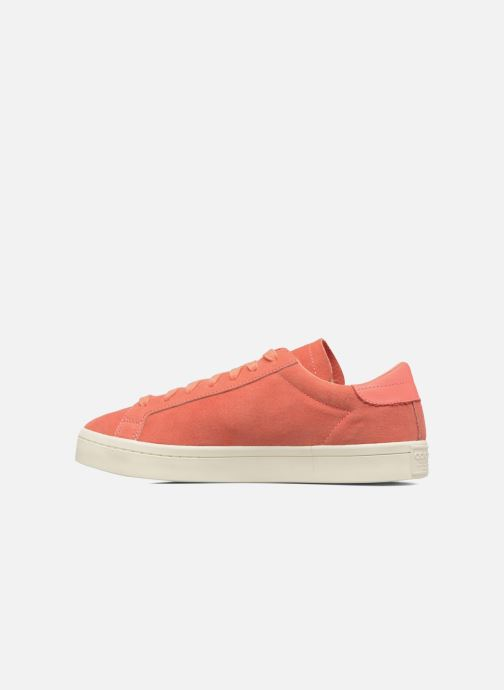 Baskets adidas originals Court Vantage H Orange vue face