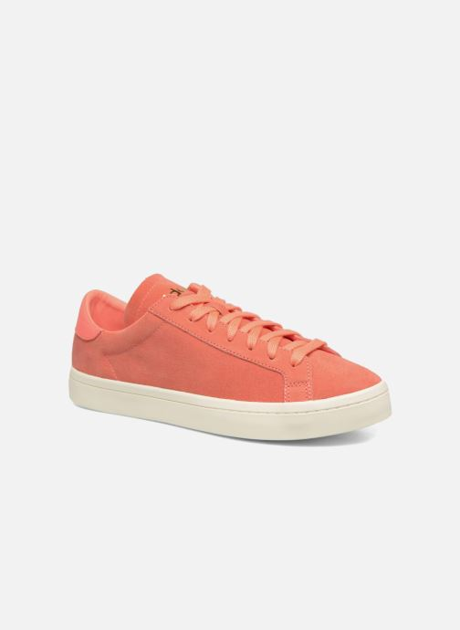Baskets adidas originals Court Vantage H Orange vue détail/paire