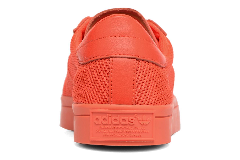 Deportivas Adidas Originals Court Vantage H Rojo vista lateral derecha