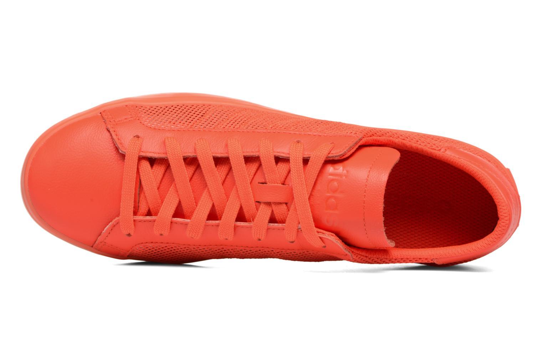 Deportivas Adidas Originals Court Vantage H Rojo vista lateral izquierda