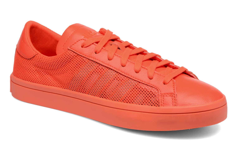 Deportivas Adidas Originals Court Vantage H Rojo vista de detalle / par