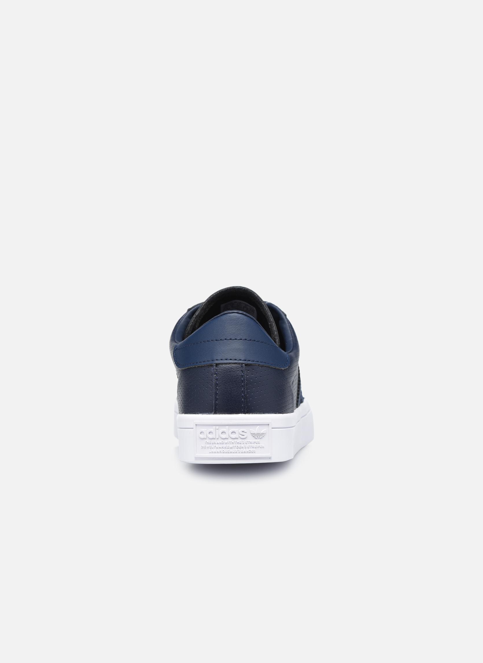 Baskets Adidas Originals Court Vantage H Bleu vue droite