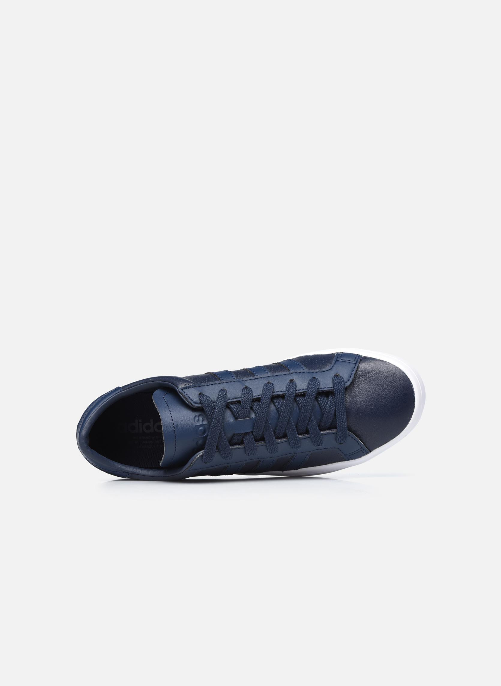 Baskets Adidas Originals Court Vantage H Bleu vue gauche