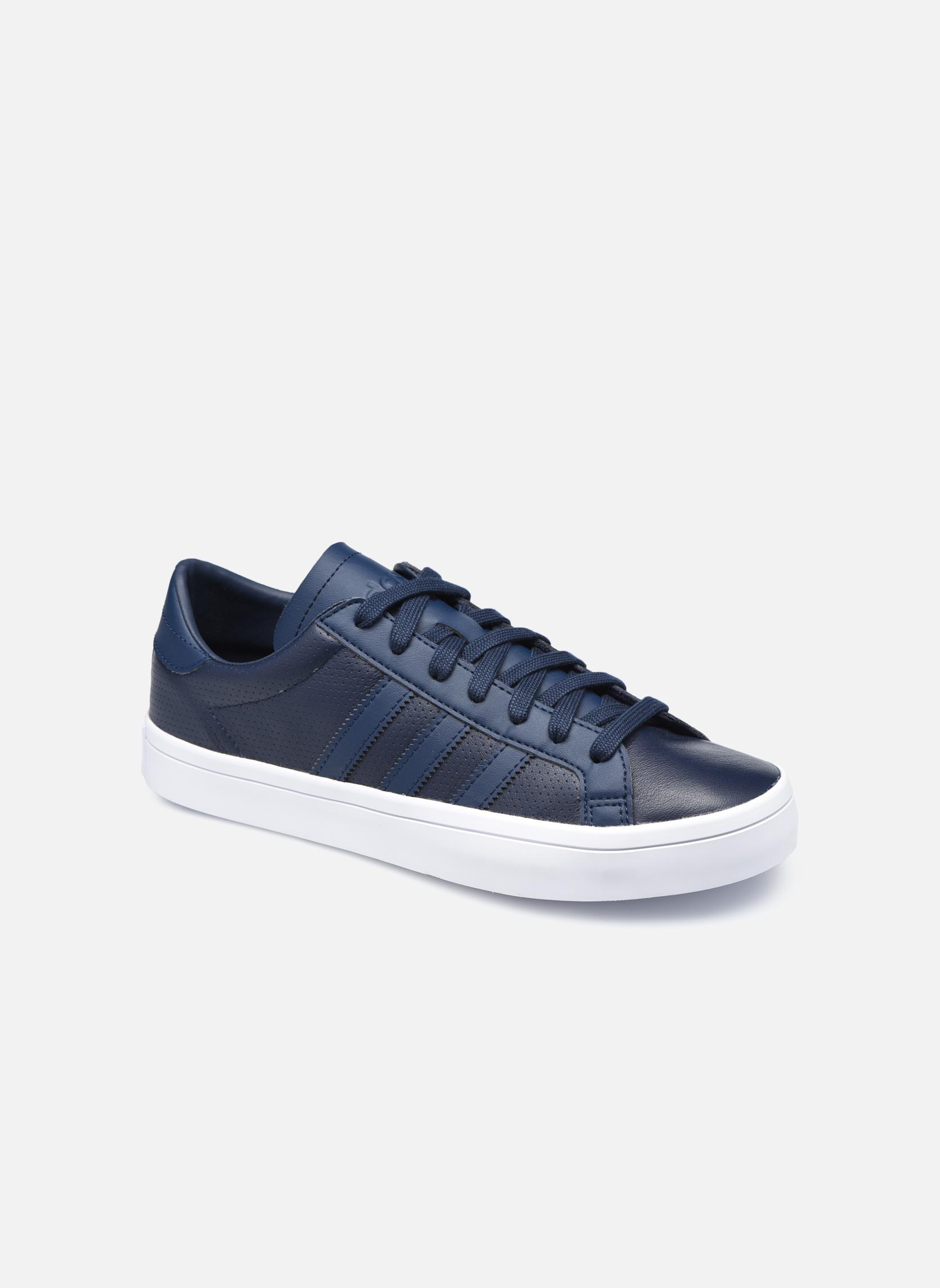 Baskets Adidas Originals Court Vantage H Bleu vue détail/paire