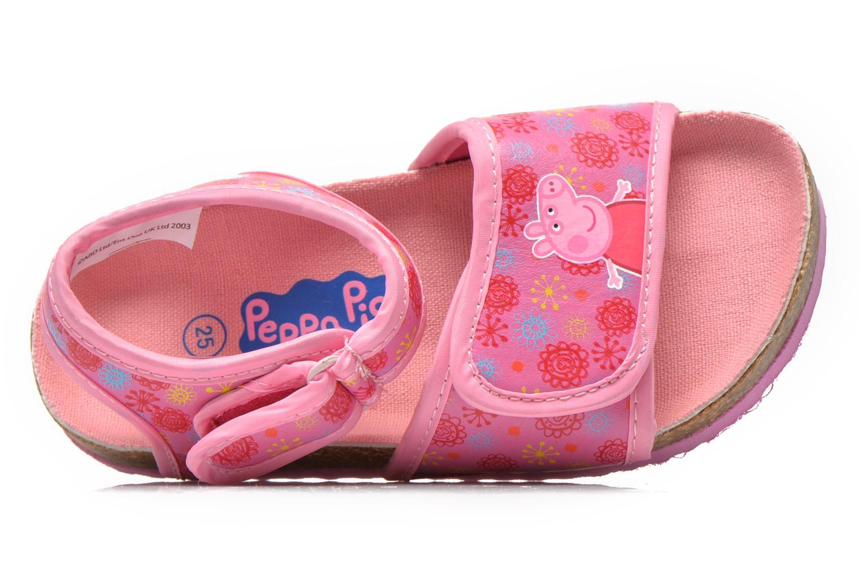 Sandales et nu-pieds Peppa Pig Fedoul Rose vue gauche