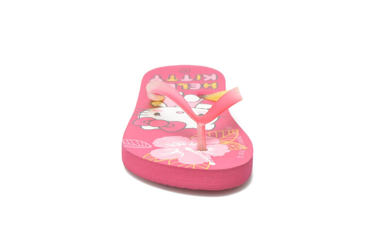 Tongs Hello Kitty Hk Lecarre Ss E Rose vue portées chaussures